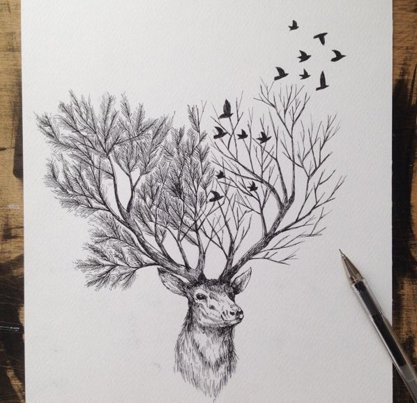 Awesome Surreal Drawings Drawings Pen by Alfred Basha
