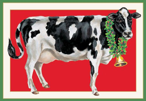 Merry Christmas to Moo!    Artist:  Katharine Barnwell --  The Inky Paw