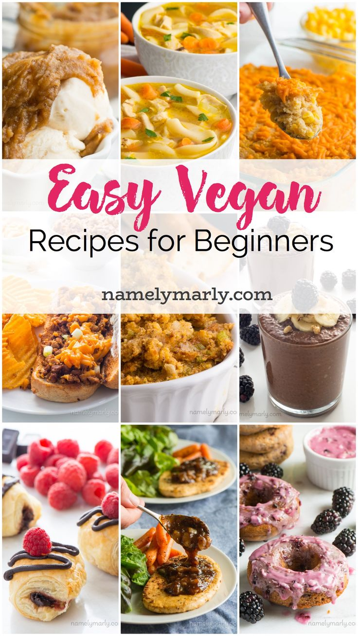 When you're new to a vegan lifestyle, the transition can seem a little difficult. Everything can feel overwhelming. That's why I wanted to share with you my favorite Simple Vegan Recipes for Beginners — to let you know that vegan can be easy, affordable, and delicious!