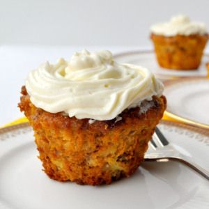 Gluten-Free Carrot Cake Cupcakes |www.flavourandsavour.com