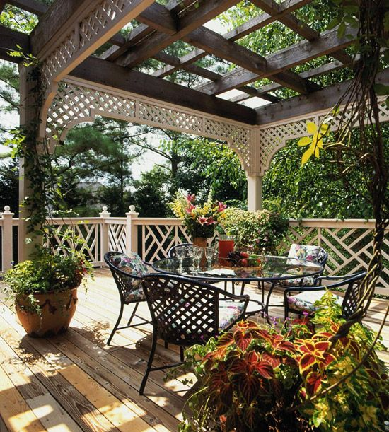 like the pergola top, railing and deck...minus the lattice (not a fan)