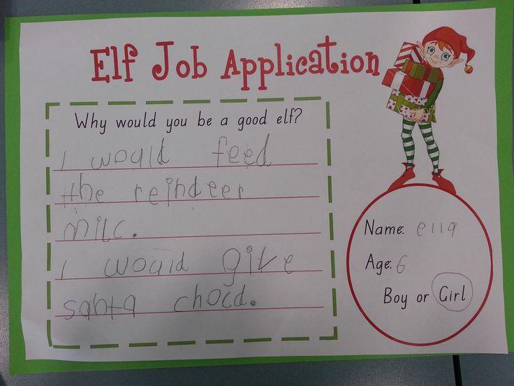 santa elf job application