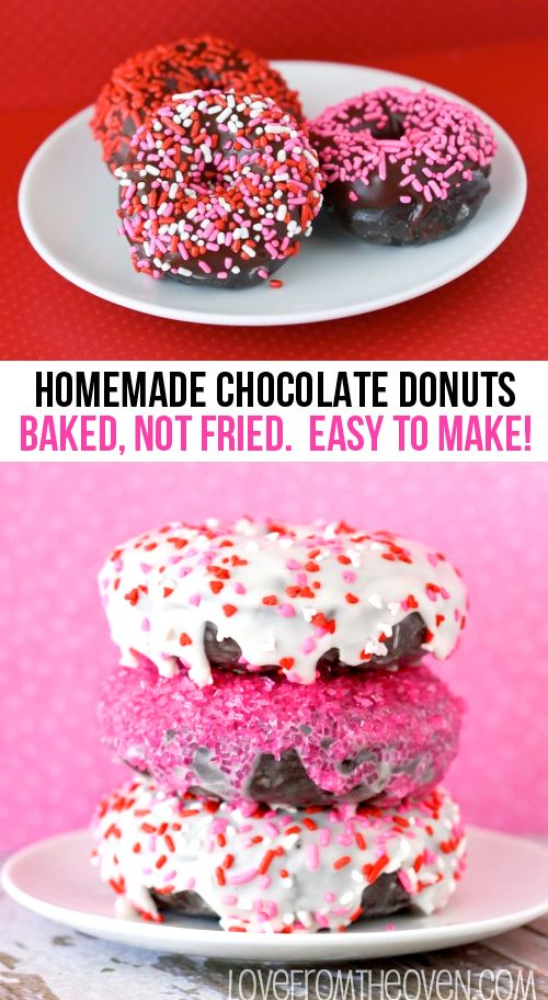Easy Chocolate Donut Recipe. Baked not fried, quicker than running to the donut shop!