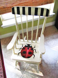 Lucy Designs: Ladybug Rocker...Trash to Cuteness