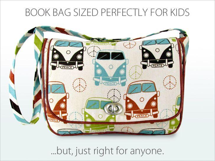 Kid's Vintage Book Bag   Sew4Home