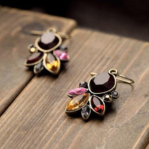 Graceful Rhinestone Drop Earrings