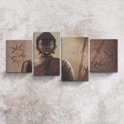 Buddha the enlightened one! Ta chansen och dekorera hemmet med denna 4-delars Buddha målning. Söker du efter den absoluta harmonin är detta rätt canvastavla att hänga upp! De fyra handmålade delarna ger väggen ett mer tilltalande utseende samtidigt som motivet ger en harmonisk upplevelse.  Länk till produkt: http://www.feelhome.se/produkt/buddha-the-enlightened-one/  #Canvas #olipainting #Painting #handpainted #interiordesign #canvastavla #canvastavlor #Buddha #ansikte #kontor #vardagsrum