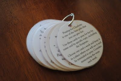 Prayer Ring -- could make these during training and they could be for every camper :).