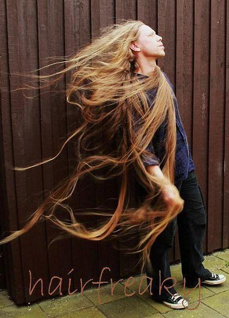 image Long hair model helena karel