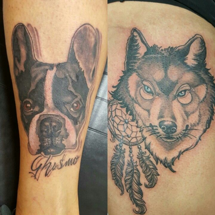 Animals! New style....#alexnardini #alextattoo #tattooplanet #tattoo #blackandgrey #tattooart #dog #dogtattoo #wolf #wolftattoo #tatuaggioleonida #tatuaggiocane colori e macchinette forniti da Lauro Paolini tattoo Supply fornitore ufficiale del Tattoo Planet