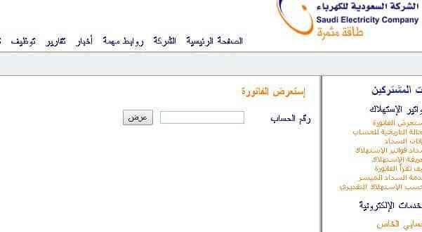 معرفة فاتورة الكهرباء من موقع وزارة الكهرباء والطاقة Electricity