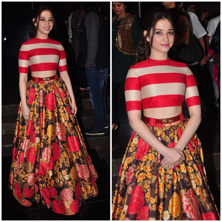 10 Best Celebrity Wedding Guest Dresses Indian: Tamannah In Sabyasachi Mukherjee.