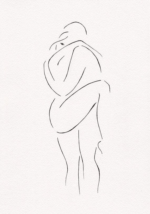 Erotic illustration for bedroom gallery wall sets. Black by siret