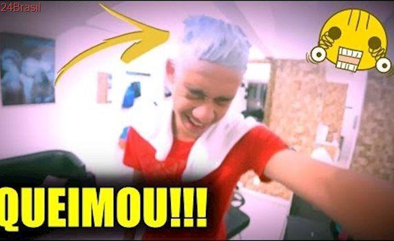 PINTEI O CABELO DE: LOIRO vs AZUL!!!