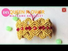 DIY macrame bracelet tutorial Queen Flower - Easy Step by step handmade macrame guide - YouTube