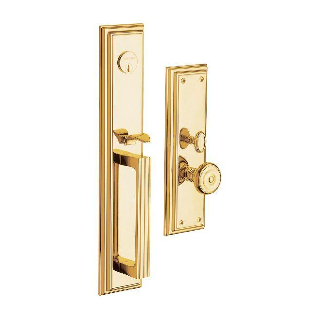 Home :: Brands :: Baldwin :: Baldwin Handlesets :: Complete Trim :: Baldwin 6542 Entry Tremont Complete Lock Trim, Lifetime Polished Brass
