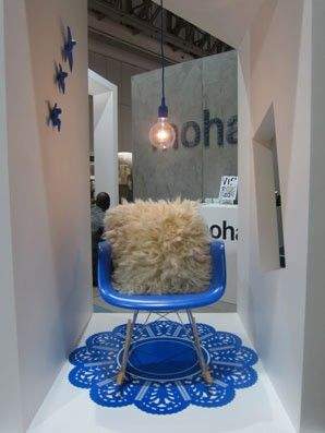 An exhibition stand #VMCentral designed for Mohair SA at last year's Design Indaba... #visualmerchandising