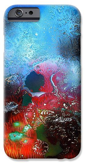 World Of Reefs IPhone 6s Case Printed with Fine Art spray painting image World Of Reefs by Nandor Molnar (When you visit the Shop, change the orientation, background color and image size as you wish)