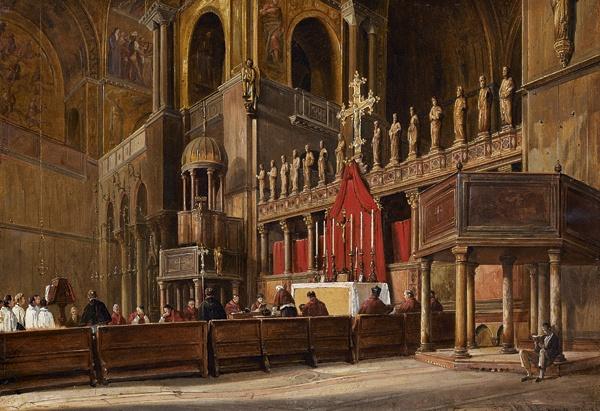 Frans vervloet / Frans Vervloet - Interior view of St. Mark's Basilica ....