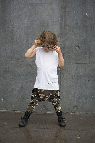 Lil' Commando's harem pants / Joggers Camo
