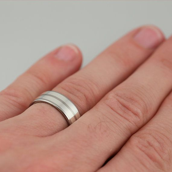 Mark Ii Palladium Silver Mens Wedding Band By Triggeron On Etsy 531 00