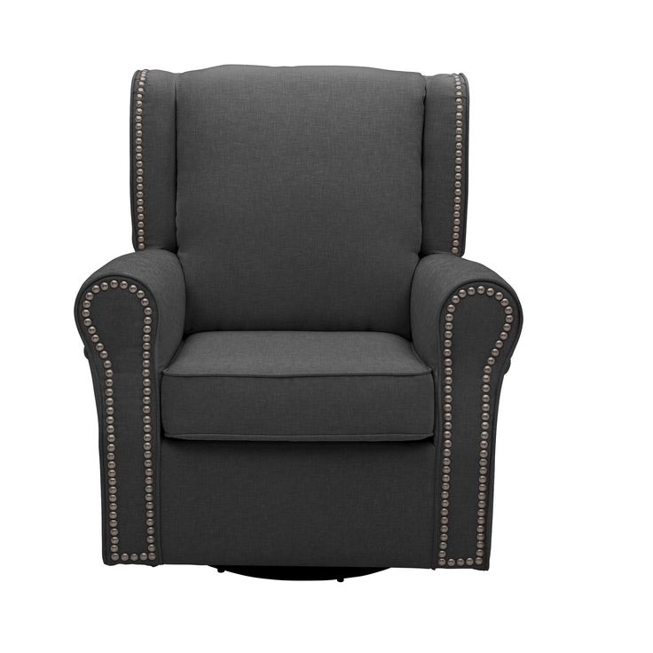 Delta Children Middleton Nursery Glider Swivel Rocker Chair – Charcoal (Grey)