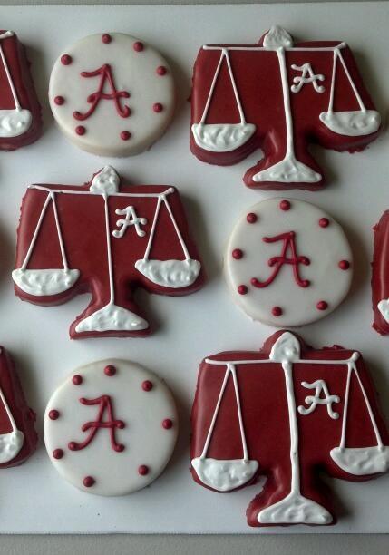 Alabama Law Graduation Cookies