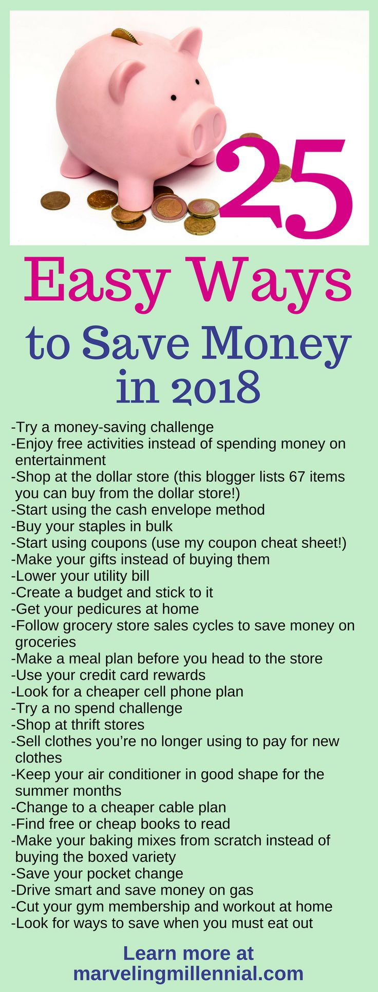 25 easy ways to save money in 2018