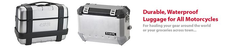 SW Motech TRAX cases for the V-Strom, KLR650 and most any other bike.