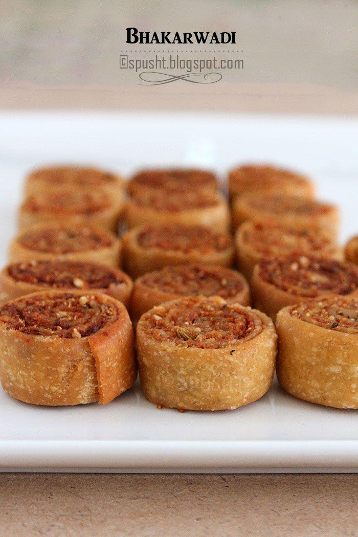 Spusht | Recipe for Bhakarwadi | Pot luck snack idea | Bite size party appetizer