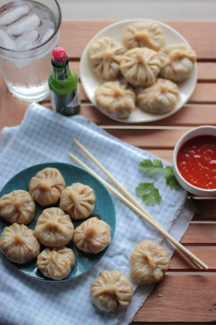 The Tales Of My Cooking: Vegetable Momos. Easy Himalayan/Indian dumpling (similar to Chinese baozi) with a chopped vegetable filling that can be steamed or pan fried.
