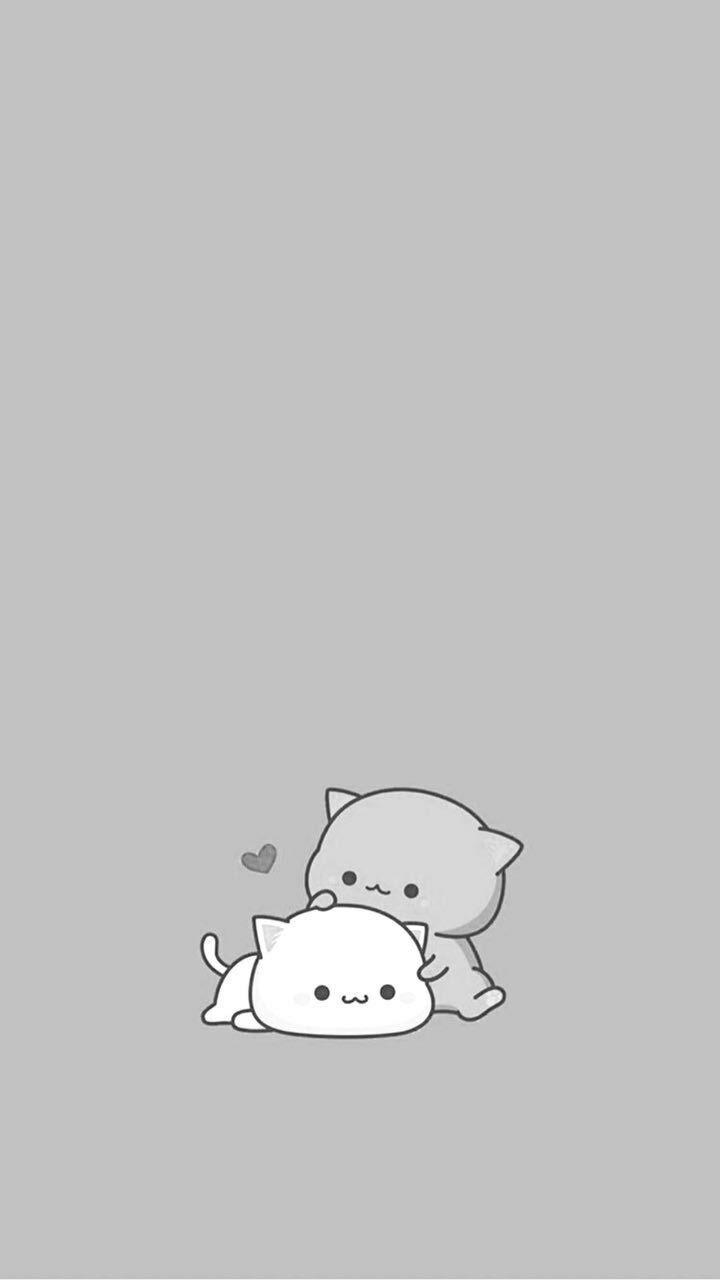 Gray Cute Cat Wallpapers Beautiful Uwu Cute Cartoon Wallpapers Wallpaper Iphone Cute Funny Wallpapers