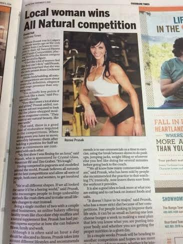 Congrats to #CrystalGlass sponsored athlete Renee Prusak in her amazing all natural fitness compettition win!  www.CrystalGlass.ca