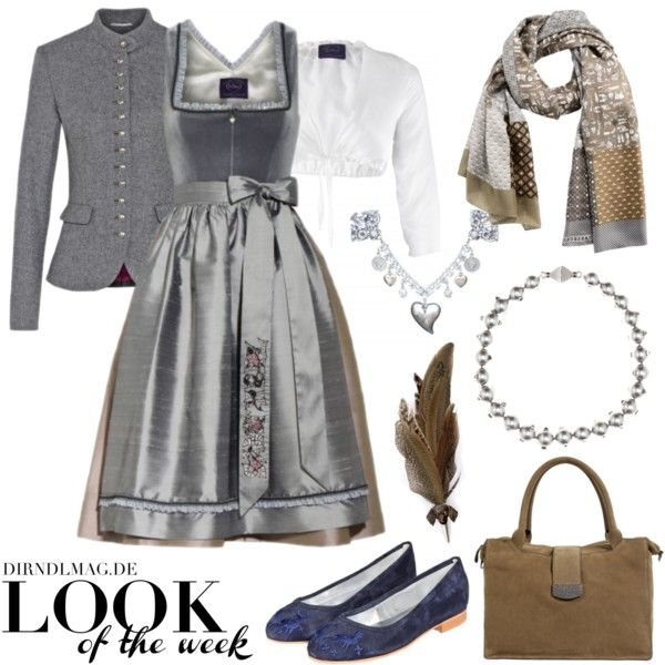 """LOOK of the week - Novembergrau"" by dirndlmag on Polyvore #dirndl"