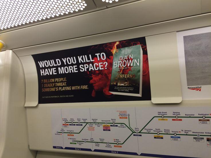 Στο μετρό του Λονδίνου παίζουν έξυπνα με το θεματικό περιεχόμενο του τελευταίου βιβλίου του Νταν Μπράουν, INFERNO!