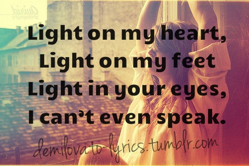 Lightweight-Demi Lovato. This is one of my favorite songs!