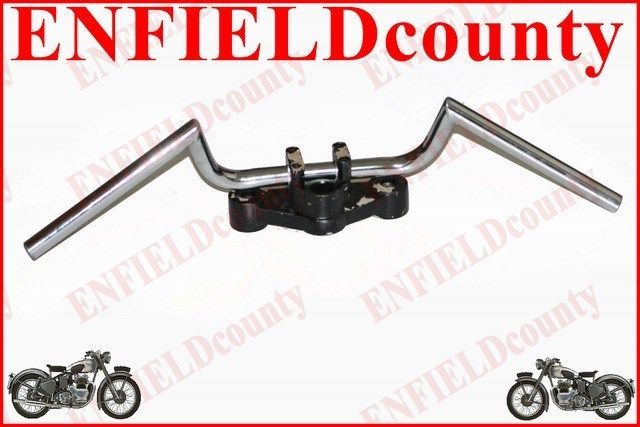 """NEW UNIVERSAL FIT 7/8"""" CHROME PLATED HANDLEBAR UNIT CAFE RACER MOTORCYCLE"""