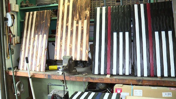 BEACH LAKE -- A man in Wayne County turned a broken box spring into an American symbol and posted a picture of it on Facebook. Now that wooden American flag has made the man a local business owner in just three months.  Ryan Thumann, 29, has spent his entire life working at his father's family-owned business, the Central House Family Resort in Beach Lake. Three months ago, Thumann took on a whole new challenge and started his own business in Wayne County.
