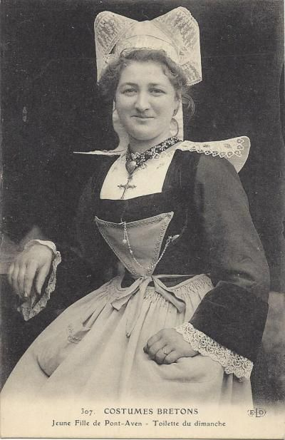 French folk-dress  -  Sunday best from Pont Aven, Brittany