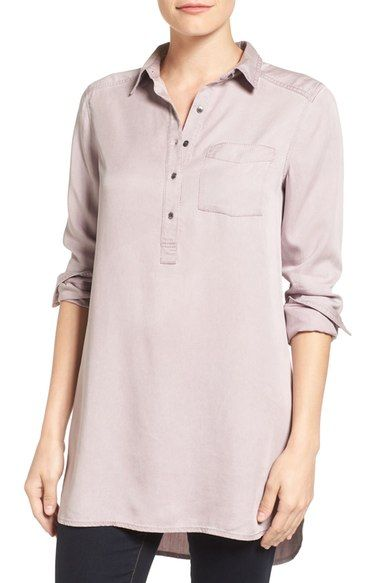 Caslon® Chambray Popover Tunic (Regular & Petite) available at #Nordstrom