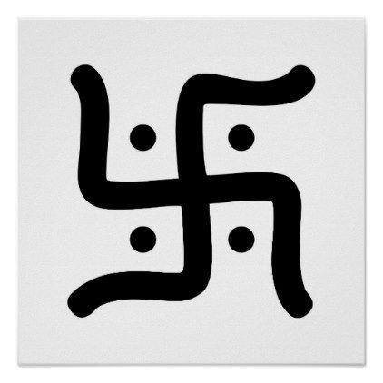 indian traditional hindu swastika symbol religion poster - traditional gift idea diy unique