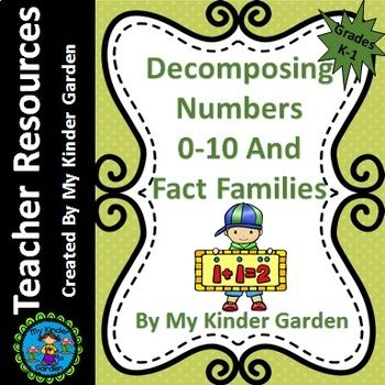 Decompose Numbers and Fact Families Common Core Math Activity This math activity works on decomposing numbers less than or equal to 10 into pairs in more than one way and fact families for each number. Decompose Numbers and Fact Families Common Core Activity can be done whole group, small group, individually, or