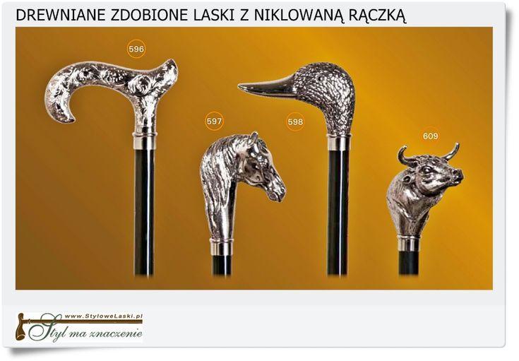 Drewniane srebrne laski