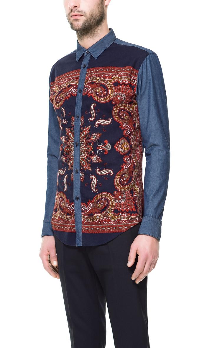 COMBI-OVERHEMD - Mode - Overhemden - Heren - ZARA Belgium €39,95