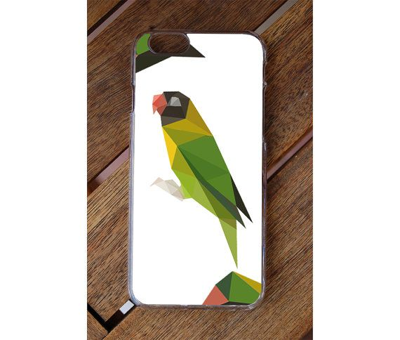 Polygon Parrot Colorful Phone Case iPhone 6 iphone by GreenyView