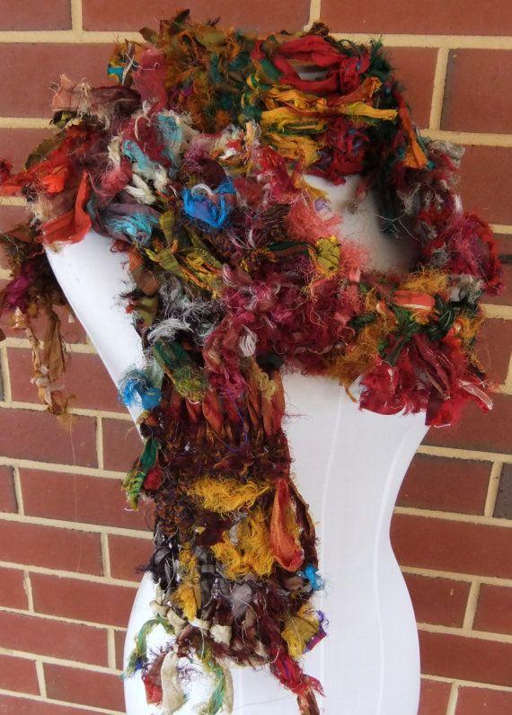 Sari Ribbon Knitting Patterns Best Images About Sari Silk Yarn On