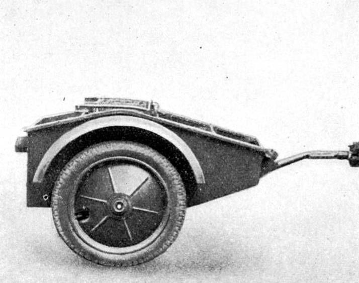 Remolque para transporte de cable reforzado (Anhänger Sd.Ah. 1/2) para un Sd.Kfz. 2/2 Kleines Kettenkraftrad für Feldkabelbau, schweres Feldkabel.