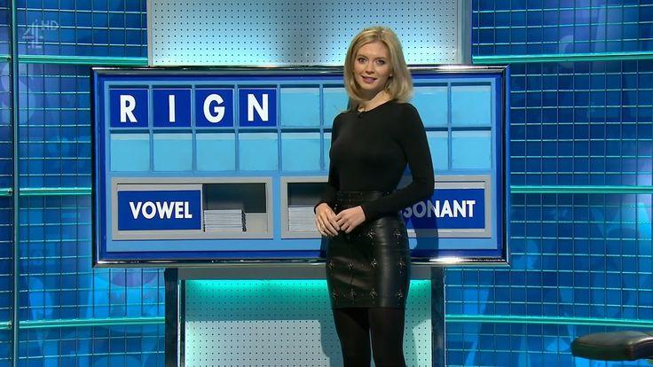 Rachel Riley UK Presenter  Leather skirt 17.1.2017