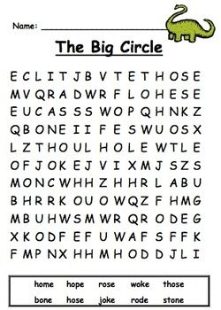 First Grade Reading Street Unit 2 Spelling Word Searches | Reading