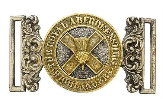 Badge. Scottish. Royal Aberdeenshire Highlanders Militia Officer's waist belt…